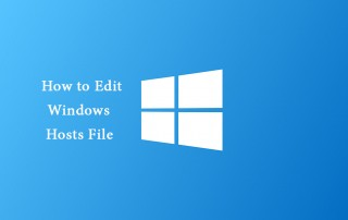 How to edit modify the Hosts file windows?